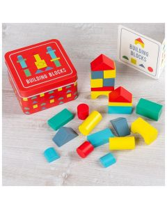 Rex London Wooden Building Blocks In A Tin 29141