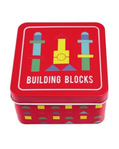 Rex London Wooden Building Blocks In A Tin