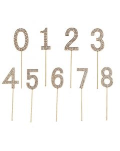 Rhinestone Cake Number Decorations