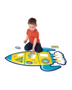 Peaceable Kingdom Shimmery Rocket  Floor Puzzle