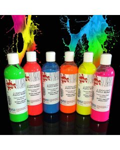 Scola Artmix 6 x 300ml Fluorescent Paint