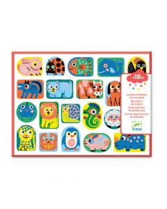 Djeco Easy Peel  Big Stickers for Toddlers - All Shapes and Sizes