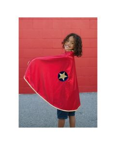 Reversible Wonder Cape - Gold and Red