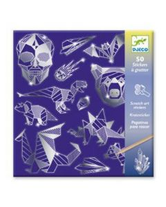 Djeco Scratch Art Stickers - Iron