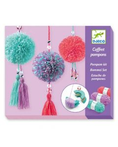 Djeco Pendant Pompom Making Kit