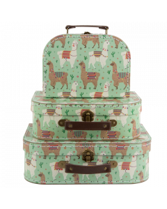 Set of 3 Llama Suitcases - save 20%