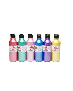 Scola Artmix 300ml Pearlescent Paint - box of 6