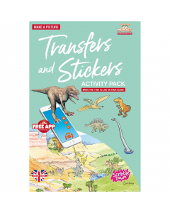 Scribble Down Transfer and Stickers Activity Pack - Land of the Dinosaurs