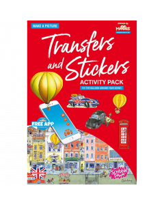 Scribble Down Transfer and Stickers Activity Pack - London Street Life