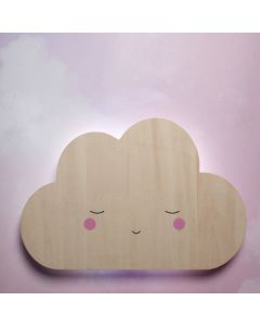 Wooden Silhouette Cloud Tap Night Light