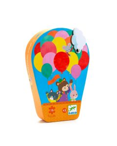 Djeco Silhouette Puzzle The Hot Air Balloon