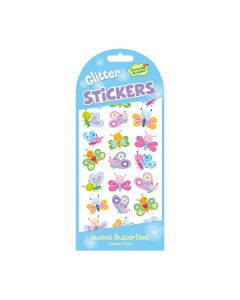 Peaceable Kingdom Sweet Butterflies Glitter Stickers