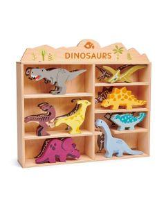 Tender Leaf Toys 8 Dinosaurs & Shelf