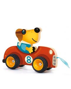 Djeco Wooden Pull Along Toy - Terreno Car SAVE 25%
