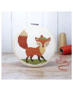 The Crafty Kit Co Cross Stitch Fox