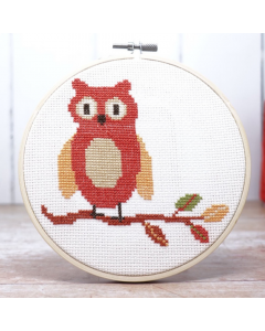 The Crafty Kit Co Cross Stitch Owl