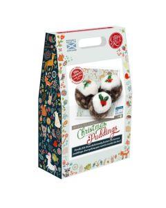 The Crafty Kit Co, Needle Felting Kit - Christmas Puddings