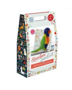 The Crafty Kit Co, Needle Felting Kit - Lorikeet - save 25%