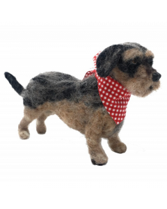 The Crafty Kit Co, Needle Felting Kit - Miniature Wirehaired Dachshund - save 25%