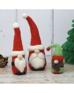 The Crafty Kit Co, Needle Felting Kit - Santa Gnomes