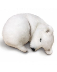 The Crafty Kit Co, Needle Felting Kit - Snoozy Polar Bear save 20%