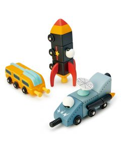 Tender Leaf Toys Wooden Space Race Construction Toy