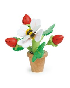 Tender Leaf Toys Wooden Strawberry Flower Pot