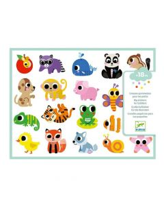 Djeco Easy Peel Big Stickers for Toddlers - Baby Animals