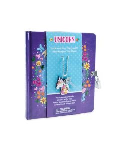 Peaceable Kingdom Unicorn Diary and Necklace