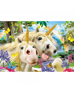 Selfies Super 3D Puzzle - Unicorns