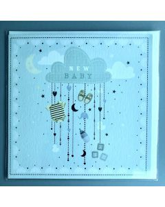 New Baby Card - Clouds