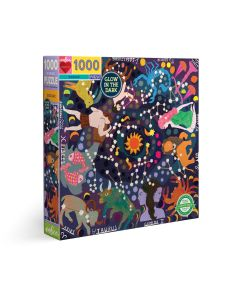EeBoo Zodiac 1000 Piece Glow In The Dark Family Puzzle