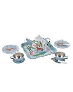 Floss & Rock  Zoo Tea Party Tin Tea Set in House Case - save 25%