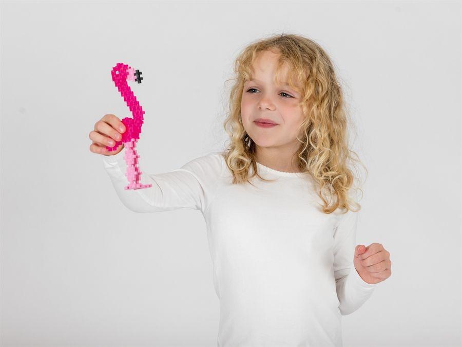 Plus Plus Mini Maker Tube -  Flamingo